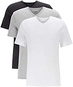 BOSS T-Shirt VN 3P CO Camiseta, Multicolor (Miscellaneous 999), Large (Pack de 3) para Hombre