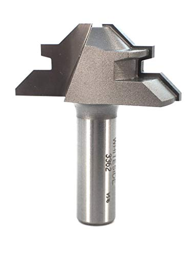 Whiteside Router Bits 3362 45-Degree Lock Miter with 2-Inch Large Diameter and 1/2-Inch to 3/4-Inch Cutting Length