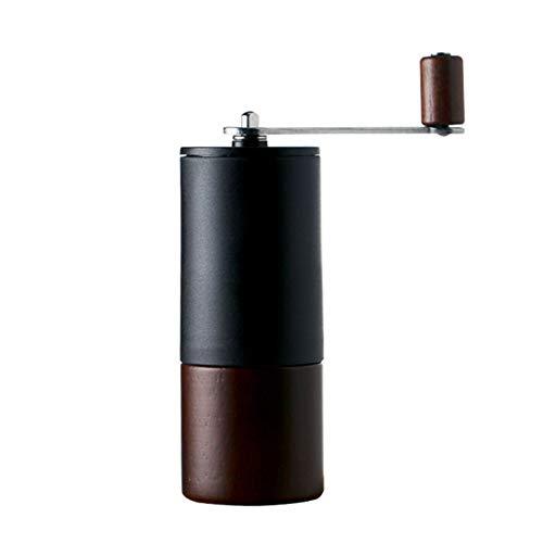 ZPF Hand Kaffeemühle, Große Kapazität Tragbare Einstellbare Holzmühle, Edelstahl Handkurbel, Geeignet Für Familien Reisen Kaffeehaus Bohnen