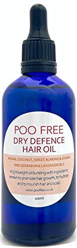 100% NATUREL - HUILE POUR CHEVEUX SECS - Huile d' Argan, Amande, Jojoba, Géranium et Lavande - mélange léger d'huiles. Bénéfique pour les cheveux secs et le cuir chevelu. Cheveux sains et hydratés.