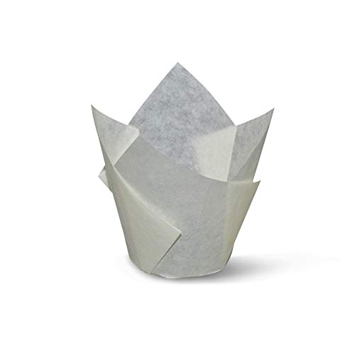White Tulip Baking Cups Cupcake Liners Muffin Liners Greaseproof Paper 100