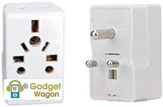 3 pin 3 Way Socket Plug Spike Buster multiplug | 6 Amperes|Multi Country Input with Safety Shutter|