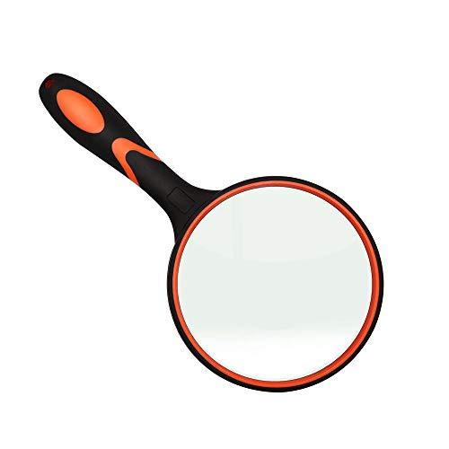 ポケットジュエラーアイルーペ、30Xガラスレンズ拡大鏡ジュエリー、コイン、スタンプ、アンティークなどのポータブル (3X-100MMオレンジ)