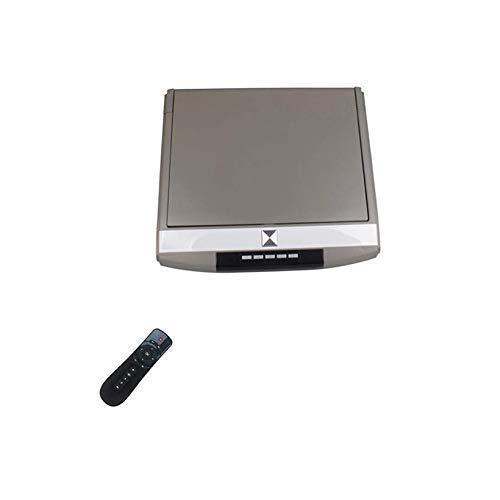 WY-CAR Monitor del Techo del Coche, Reproductor de Video con Soporte de Techo de 15,6 Pulgadas, Android 7.0 HD 4K 1080P con Pantalla capacitiva IPS WiFi/HDMI/USB/SD/FM/Bluetooth/Altavoz Dual,Gray