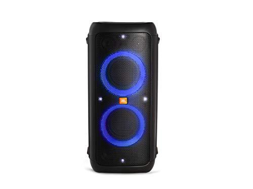 JBL PartyBox 300 - Altavoz inalámbrico portátil con Bluetooth, parlantes con efectos de luces, resistente al agua, hasta 18h de reproducción, negro
