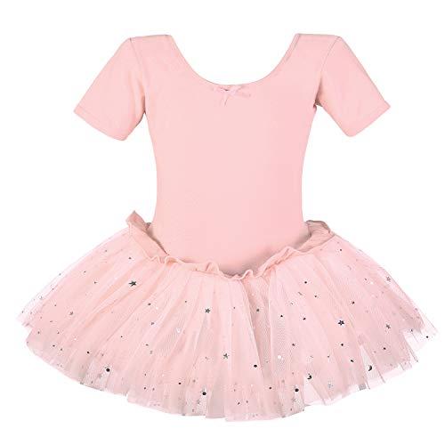 Dancina Leotard Sparkle Tutu Dress Short Sleeve Future Ballerina First Ballet Class Gift 2T Ballet Pink