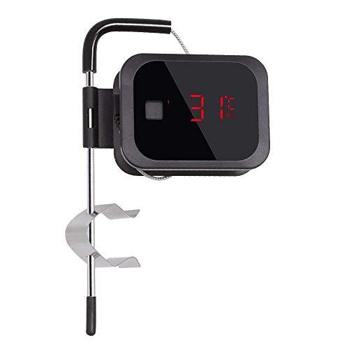 Inkbird IBT-2XEU Thermomètre Cuisson Bluetooth Thermomètre avec Sonde Temperature Cuisine Thermomètre Four Thermometre Barbecue Interieur Exterieur pour Fumoir Viande,Boeuf,Porc(IBT-2XEU+1 Sonde)