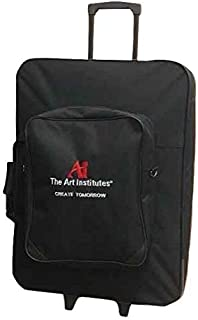 Canvas Rolling Art Portfolio with Removable Front Pouch/Duffel Artist Case