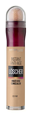 Maybelline New York Abdeckstift, Instant Anti-Age Effekt Concealer, Löscher mit Mikro-Lösch-Applikator, Nr. 03 Fair, 6,8 ml