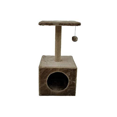 BRAVO Tiragraffi per gatti, albero tiragraffi per gatti per giocare e ragno, piattaforma gioco con corda D: 30 x 30 x 60 cm.