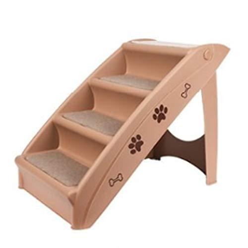 Baiyin Rampa para Mascotas, 4 Pasos Almohadilla De Pie Antideslizante Fácil De Limpiar Fácil De Almacenar Complemento De Seguridad Plegable Pedal para Perros Y Gatos
