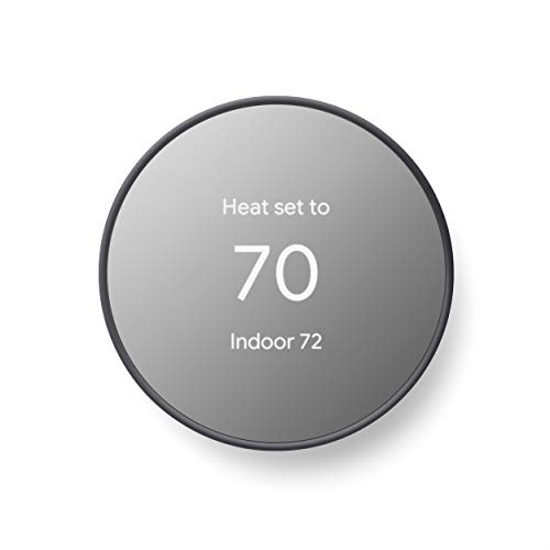 Google G4CVZ Nest Thermostat - Smart Thermostat for Home - Programmable Wifi Thermostat - Charcoal
