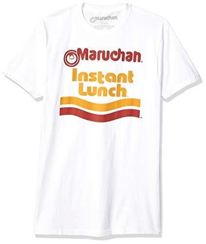 Maruchan Men's Ramen Noodle Instant Lunch Logo T-Shirt, White, Large