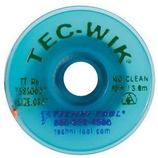 Techni-Tool Tec-WIK No Clean Desoldering Bargain sale Braid # 10' Weekly update .080 x Size