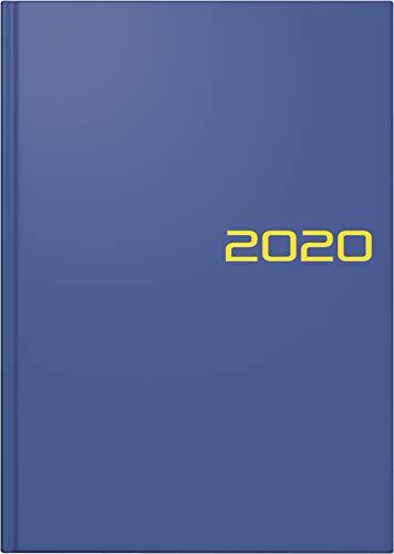BRUNNEN 107956103 Buchkalender Modell 795 (1 Seite = 1 Tag, 14,5 x 20,6 cm, Balacron-Einband, Kalendarium 2020) blau