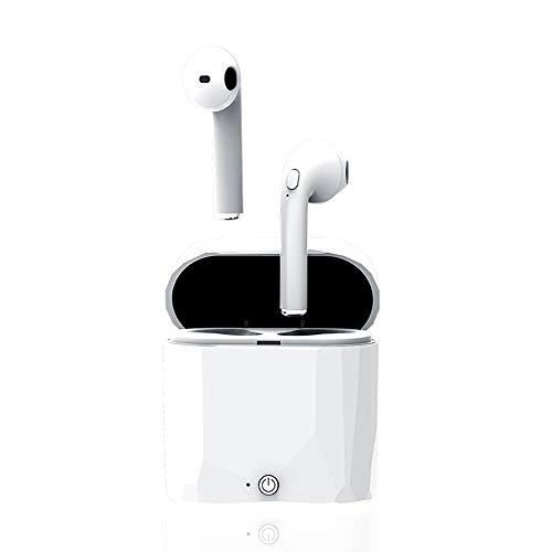 Jian Lin Mini Stealth Drahtloser Bluetooth-Kopfhörer Sportlicher Subwoofer Binauraler Bluetooth-In-Ear-Kopfhörer Wasserdicht kopfhörer Bluetooth in Ear (Color : White)