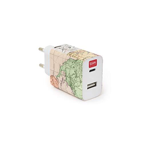 Legami - Plug & Charge - Cargador de Pared - USB + USB-C