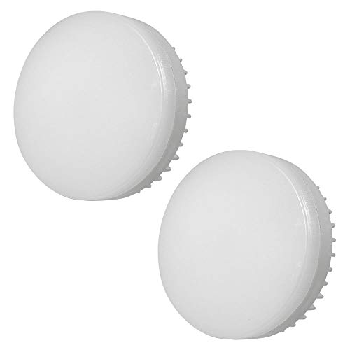 MENGS 2 bombillas LED GX53 12 W = 95 W Lámpara LED blanco frío 6000 K, 1200 lm, AC 85 – 265 V, de aluminio + PC Luz LED