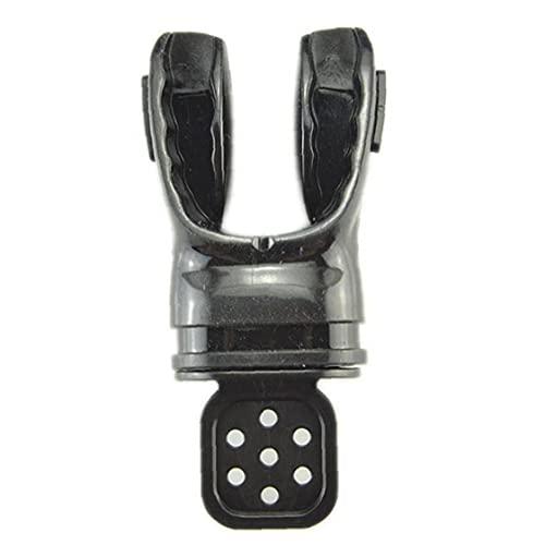 Buceo con escafandra Boquilla Boquilla Reguladores de snorkel para buceo submarino Deportes Respira Tubo Negro para el snorkeling y el buceo