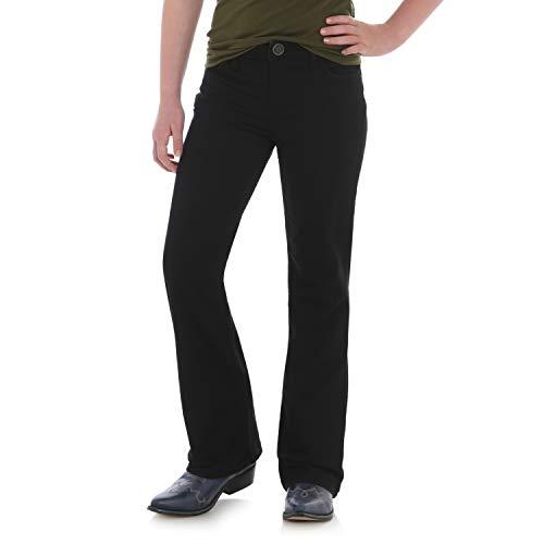 Wrangler Girls' Big Western Boot Cut Jean, black, 14 SLIM