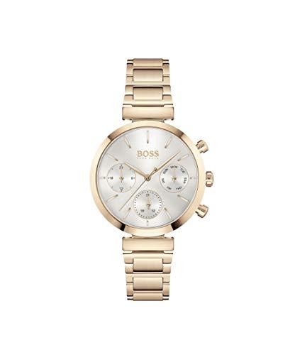 Hugo Boss Damen Analog Quarz Uhr mit Edelstahl Armband 1502531