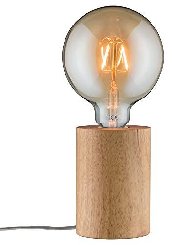 Paulmann 79640 Neordic Talin Tischleuchte max. 1x20W Tischlampe für E27 Lampen Nachttischlampe 230V Holz ohne Leuchtmittel