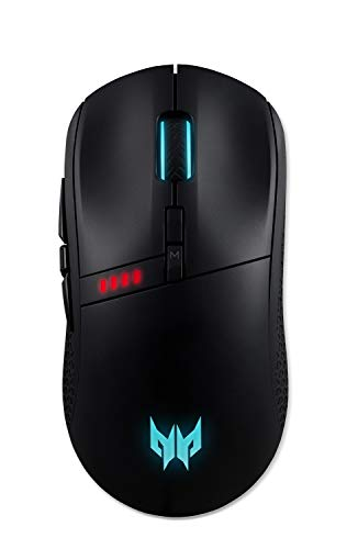 Acer Predator Cestus 350 Wireless Gaming Mouse: Up to 16000 DPI - RGB Lighting - 8 Programmable Buttons - On-Board Memory - 5 Profile Settings - Pixart 3335 Sensor - Black