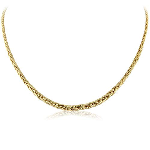 Mark Milton Gifts for Her, 16 Inches Yellow Gold Palmier Necklace for Women, 375 Yellow Gold, Best Gift for Events