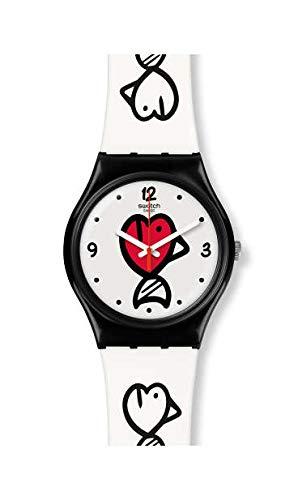 Swatch Reloj Analógico para Mujer de Cuarzo Suizo con Correa en Silicona GB321