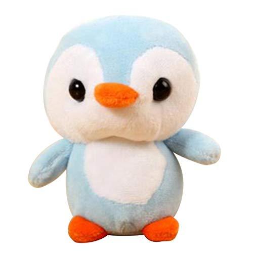 Barukra Colgante de Felpa de pingüino Super Suave Felpa Corta PP muñeca de algodón Colgante Regalo de Acuario Dibujos Animados Lindo Regalo de cumpleaños