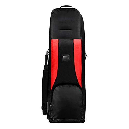 YPSMLYY Tragbare wasserdichte Golf Luftfahrt Flaschenzug Tasche Falten Golf Club Tasche Flugzeug Lagerung Golftasche Falten Flugzeug Reise Nylon Golftasche,Red