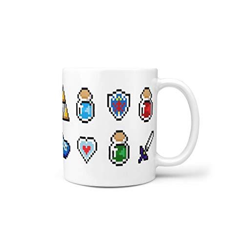 Zelda water thee mok met oor keramiek nieuwigheid beker - Game Role heren heden heden vandaag, geschikt voor kantoor (11 oz)