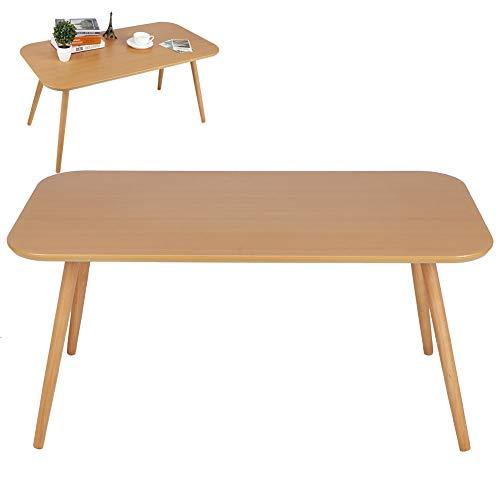 AYNEFY Mesa de madera para balcón, mesa de jardín, mesa moderna de madera para salón, cocina, hogar y oficina