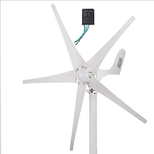Turbina eolica, Kit de generador de energía eólica de 6000 W, 5 aspas con controlador de carga, turbinas eólicas horizontales para el hogar, generador de molino de viento, sistema eólico solar hí