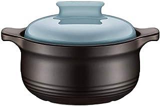 BLLXMX Casseroles High Temperature Resistant Casserole Ceramic Pot With Lid, Suitable for 2-3 People (size: 3L) (Size : 3L)