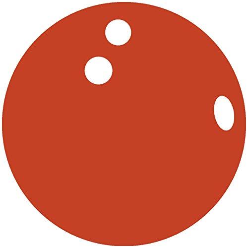 Samunshi® Wandtattoo Bowlingkugel Wandsticker in 7 Größen und 25 Farben (50x50cm kupfermetalleffekt)