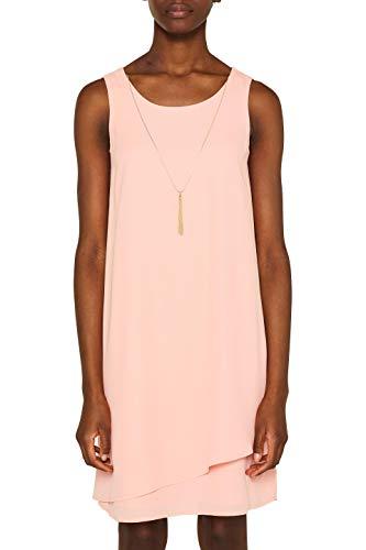 ESPRIT Collection Damen 049EO1E012 Kleid, Rot (Coral 645), (Herstellergröße: 36)