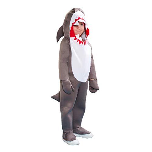 EraSpooky Unisex Tier Hai Kostüm Ausgefallene Faschingskostüme Einteiler Halloween Party Karneval Fastnacht Tierkostüm