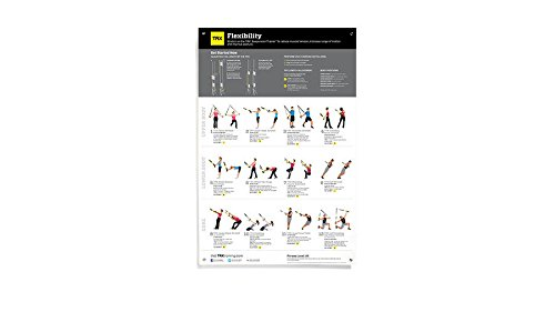 TRX Training All Body Flexibility Poster, 12 Easy, Total Body Stretches