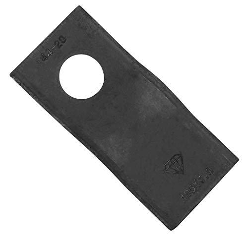 Klinge für Kreiselmäher | 106 x 47 x 3 mm | passend zu Zweegers | Vergleichsnr.: CM120 | Klinge | Grasschnitt | Futterernte | Silage | Futter | Ernte
