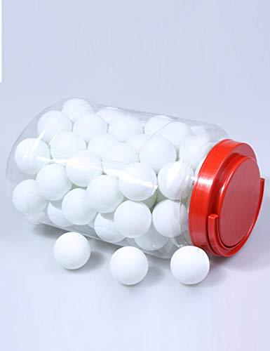 Jueshanzj 60 pelotas de ping pong de entrenamiento con cubo de almacenamiento
