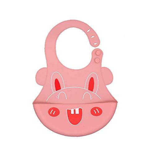 Vaisselle bébé silicone bavoirs confortable Vaisselle bébé doux bavoirs imperméables Cartoon Motif Lapin Design Bébé Vaisselle bébé bavoirs Fournitures pour bébés