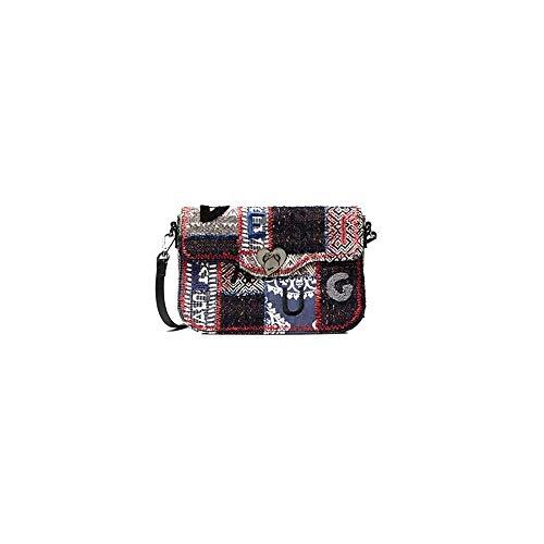 Desigual 1968 AMORGOS Tasche aus Textil-Patches SKU: 19WAXA36 2045U