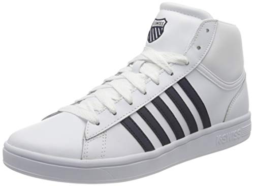 K-Swiss Herren Court Winston MID Sneaker, White/Navy, 43 EU