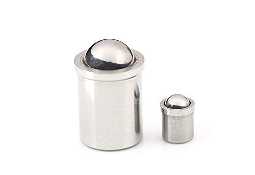 LF&LQEW 10PCS 5PCS M3 M4 M5 M6 M8 Smooth Body Stainless Steel Ball Plunger Push Fit Ball Spring Plunger (Size : 6X7 10PCS)