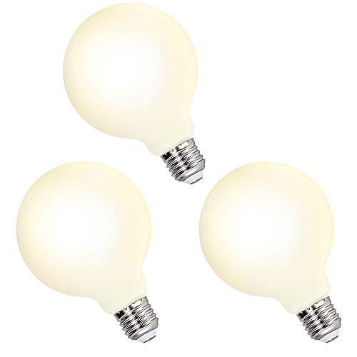 Grosse Lampes Ampoules a Globe Edison Décorative LED E27 G95 6W Blanc Chaud 3000K LED pour Lampe Suspension Suspendue, Remplace Ampoule Incandescente 60W, Lot de 3 de Enuotek