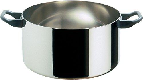 Alessi 90101/24 T La Cintura di Orione Casseruola in Trilamina/AISI 430, Alluminio, Acciaio Inossidabile 18/10, 24 cm