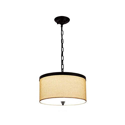 Z-GJM Led-plafondlamp schaduw hanger, moderne stoffen kap ronde grote grijze trommel lampenkap voor slaapkamer eetkamer woonkamer lamp 3000K, B B