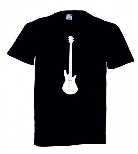 T-Shirt Gitarre- AXT- Musik- Musical- Instrument- Elektro- String- AKKORD- Blues- POP- Punk- HART- Band in Schwarz für Herren- Damen- Kinder