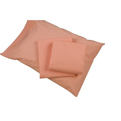 DMI Hospital Bed Sheet Set with Fitted Sheet, Top Sheet and Pillow Case, 132 Thread Count, 36 x 80 x 6 inches, Peach